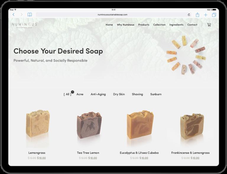 Numinous - Web Design Ipad 1