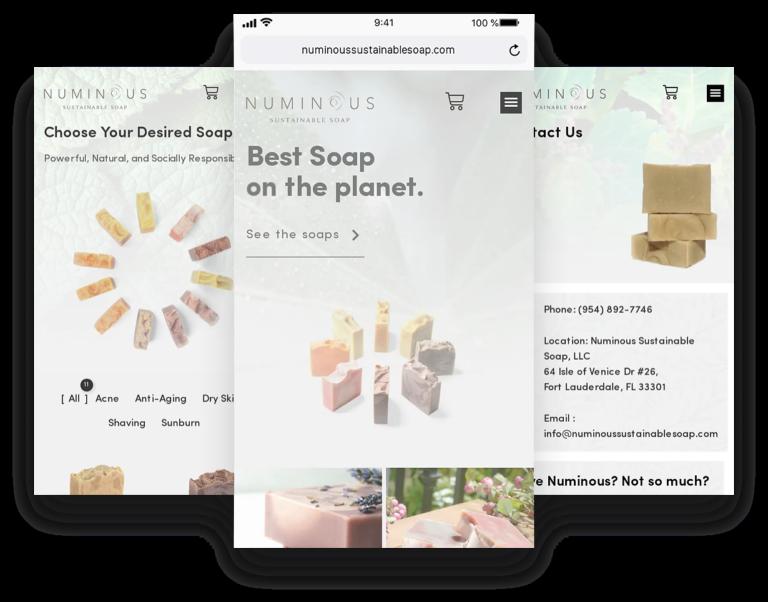 Numinous - Web Design Mobile 1